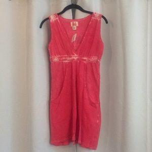 Billabong pink cotton mini dress